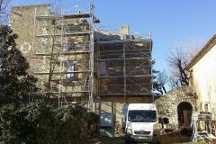 Rénovation facade à la chaux
