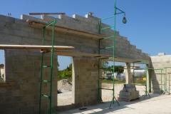 Construction pignon en agglo de 20cm maçonnés