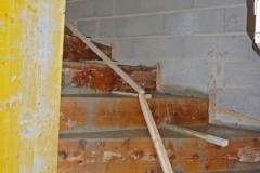 Escalier béton balancé