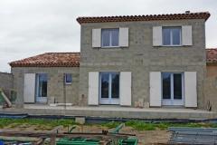 Construction maison d'habitation traditionnelle